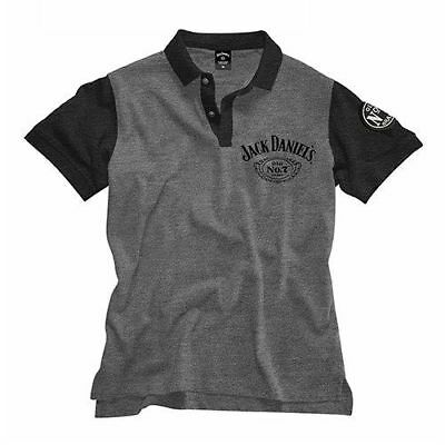 Jack Daniels Mens Official Grey Polo Shirt 'Select Size' S-3XL BNWT