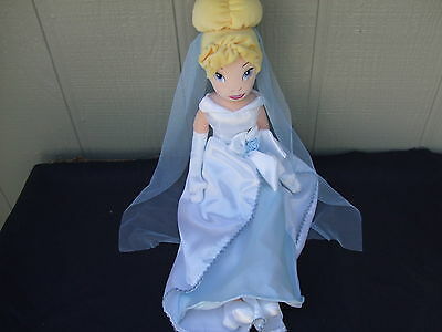 "Disney Cinderella Plush Wedding Doll 21"" New"