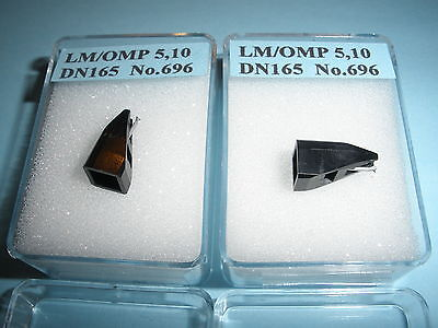 Pair Replacement Diamond Styli for Ortofon OMP5/DN165