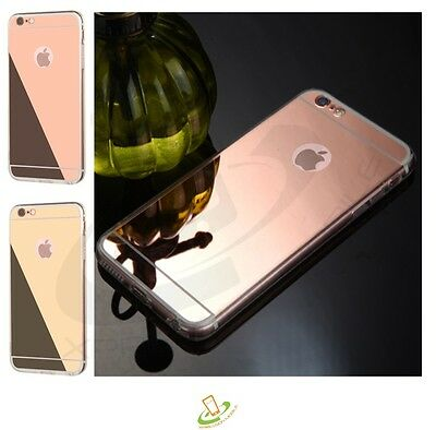Rose Gold Rubber TPU Hard Protective Clear Case Cover For Apple iPhone 7 6S PLUS
