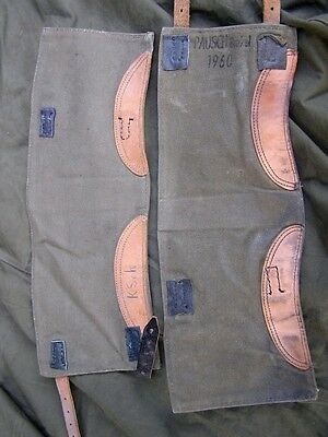 Swedish German Army Surplus Gaiters Hiking Riders Chopper Vintange