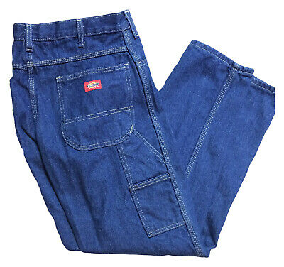 Dickies Men's Industrial Work Uniform Carpenter Jeans Indigo Blue LU200RNB