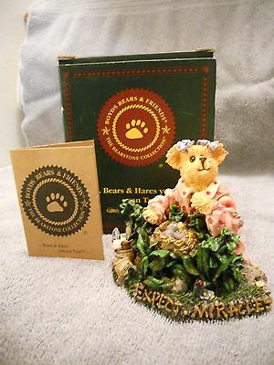 Boyd's Bears Bearstone Collection Joy S. Bearheart Natures Little Wonders Figure