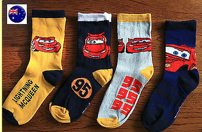 2Pairs Baby Boys Kids Children McQueen Lightening Cars Shoes Crew Socks 2-3years