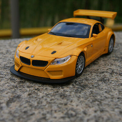 BMW Z4 GT3 Model Cars 1:32 Sound&Light Alloy Diecast Toy Collection&Gifts Yellow