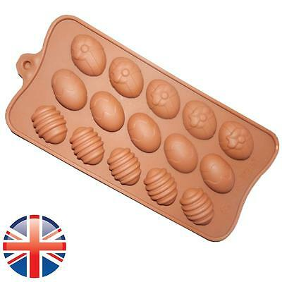 *UK Seller* Silicone Easter Eggs shape Chocolate Cake Ice Baking Mold Mould
