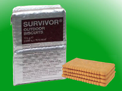 (1,20€/100g) 10x125g Survivor-Outdoor-Biscuits Hartkekse, Outdoor-Kekse, MSI