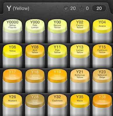 Y Series COPIC Classic Marker Yellow