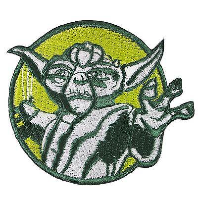 """YODA DO OR DO NOT IRON ON PATCH 3.75/"""" Embroidered Applique Star Wars Tattoo 458"""