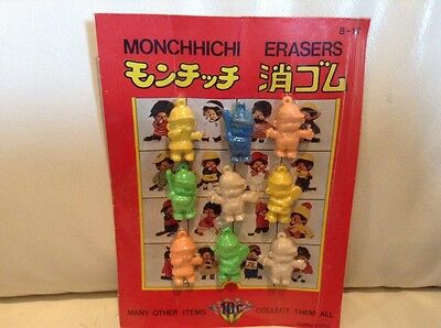 1 ONLY MONCHHICHI  Erasers Monkey Charms Vending gum ball Machine Display Card