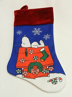 Officially Licensed Peanuts Snoopy On Dog House In The Snow Christmas Stocking