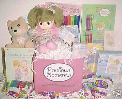 New Precious Moments Toy Box Easter Gift Basket Doll Playset Birthday Toys