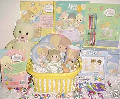 New Precious Moments Easter Toy Gift Basket Birthday Doll Playset Christmas Toys