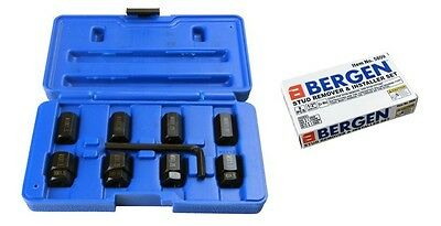 STUD EXTRACTOR & INSTALLER SET by BERGEN TOOLS M6 M8 M10 does not damage threads