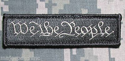 We The People Tab Usa Military Tactical Army Morale Badge Acu Light Hook Patch