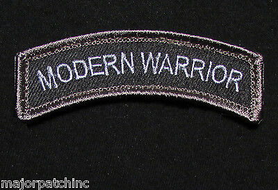 Modern Warrior Rocker Tab Usa Army Tactical Us Military Morale Swat Hook Patch