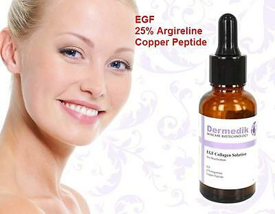 EGF 25% ARGIRELINE COPPER PEPTIDE SERUM ANTI AGE WRINKLE LIFTING COLLAGEN 30ml