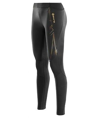 Skins A400 Womens Compression Long Tights (Black / Gold)