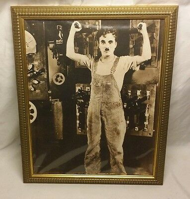 Charlie Chaplin Picture 11x17 (still in plastic wrap) gold plastic frame Movie