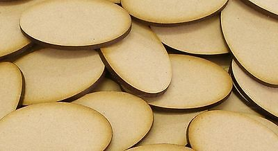 MDF WOODEN OVAL CIRCLE SHAPES 3mm THICK CUSTOM CUT WOOD SHAPE 20mm/100mm WIDTH