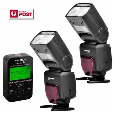 2 x Yongnuo YN-685 Wireless Speedlite Flash + YN622C-TX Controller for Canon AU