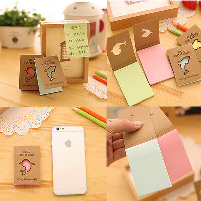 Fridge magnet Pads Memo Paper Adhesive Markers Sticky Note Hollow Out Cover