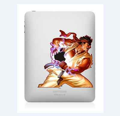Street Fighter Ryu iPad 1/2/3/4 Vinyl Sticker Skin Decal Back Cover