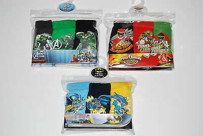 Boys 3 Pack Pants Marvel Power Rangers Hulk Batman Cars Star Wars Teletubbbies