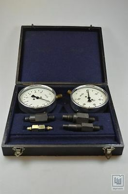 Prüfmanometer mit Adapter im Koffer / Test manometer with Adapter in case