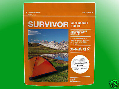 (2,63€/100g)  Survivor Outdoor Food - Volleipulver, Krisenvorsorge, Outdoor, MSI