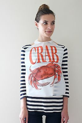 100 Pack Of Disposable Plastic Crab Bibs Free Shipping