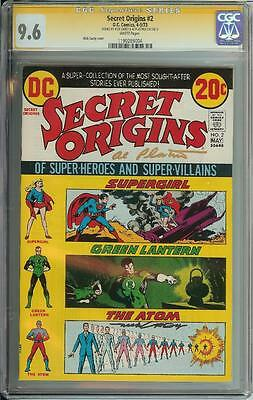 Secret Origins #2 Ss Cgc 9.6 Signed By Nick Cardy & Al Plastino Atom Supergirl