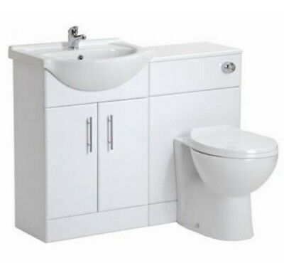 Bathroom Cloakroom Vanity Basin Unit, Back to Wall BTW Toilet Furniture