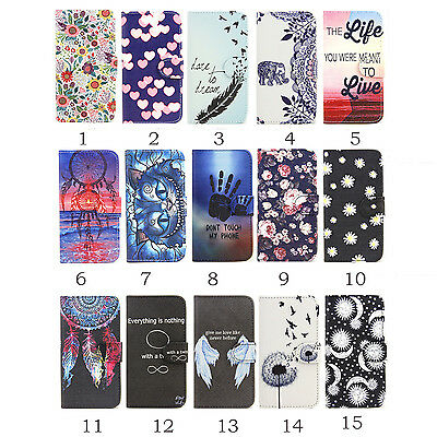 Luxury Flip Wallet Magnetic Patterned Leather Case Cover With Stand For Phones
