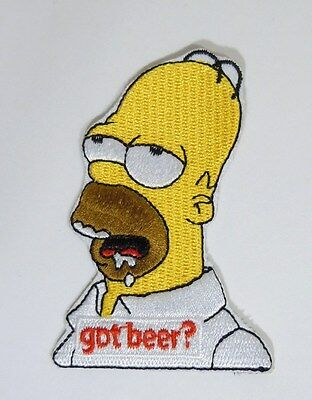 """HOMER SIMPSON Embroidered Iron-On Patch - 3"""" -  High Quality"""