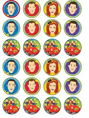 24 Wiggles Edible ICING Cupcake Toppers Party Cake Decoration
