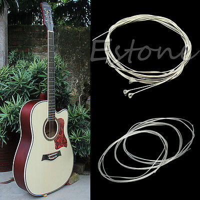 New 6pcs Durable 39'' Silver Plated Nylon Strings For Acoustic Classical Guitar