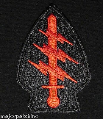 Special Forces Command Ssi Army Tactical Usa Military Black Ops Red Velcro Patch