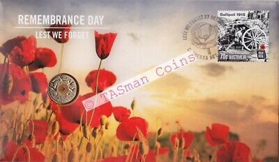 Australia 2015 - Remembrance Day PNC - RAM $2 Orange Coin Limited Edition 11000