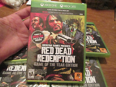 Red Dead Redemption Game Of The Year Edition Xbox One & Xbox 360 New Sealed