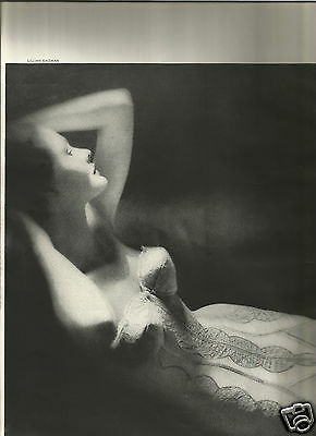 50's Lillian Bassman Photographed 3-Page Lingerie Editorial  1955