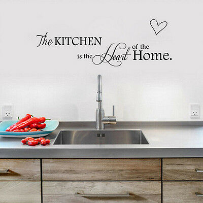 New PVC Quote Kitchen + Home Mural Art DIY Decal Decor Removable Wall Sticker