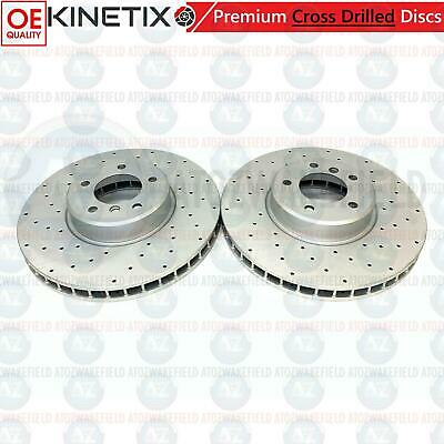 FOR BMW E60 E61 535 535D M SPORT REAR VENTED BRAKE DISCS PADS SET WIRE MSPORT