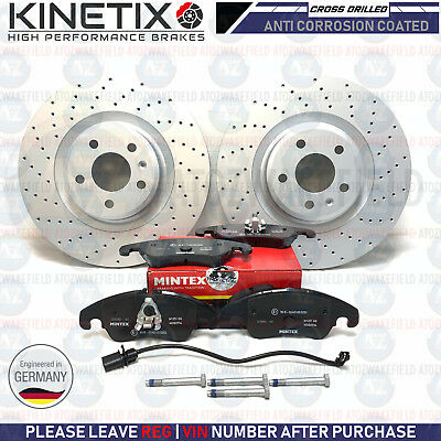 FOR AUDI S4 B8 FRONT MINTEX DRILLED GROOVED BRAKE DISCS PADS 345mm