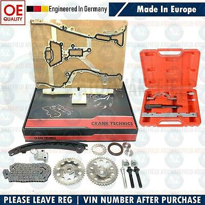 For Vauxhall Corsa C D 1.0 1.2 1.4 00-10 Timing Chain Kit Sprockets & Tool Kit