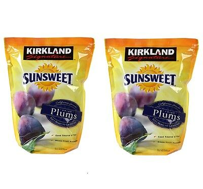 Dried Pitted Prunes Plums Sunsweet Whole Fruit Kirkland Signature 3 kg