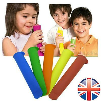 *UK Seller* Silicone Push-Up Ice Cream Lolly Maker Mould Pop Pole Mold Lollies