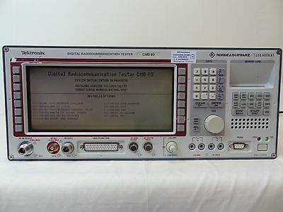Rohde & Schwarz CMD80 Cellular Mobile Radio Test Set W/Options