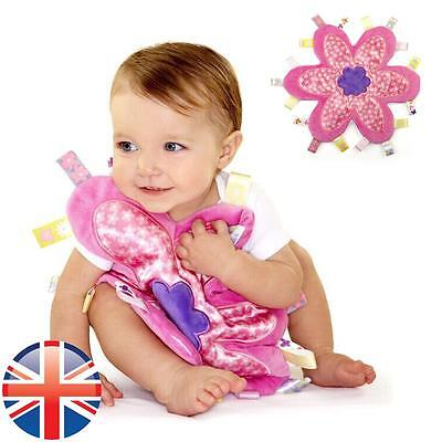 *UK Seller* Baby Infant Girl Taggy Flower Towel Security Blanket Cloth Comforter