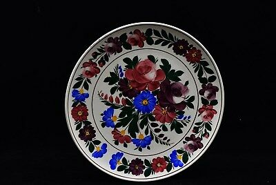 Kispest Hungary Hand Painted Floral Plates- Wall Hanging